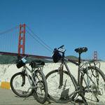 自転車でゴールデンゲートブリッジ